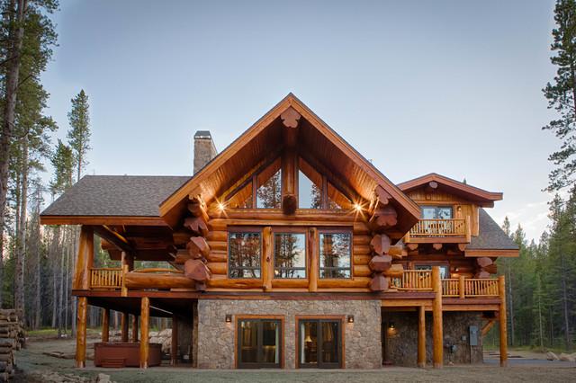 2013 Parade Home Moose Ridge Cabin Log Home traditional-exterior