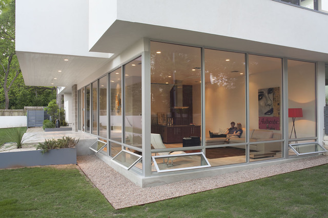 photo of a modern two story exterior in austin