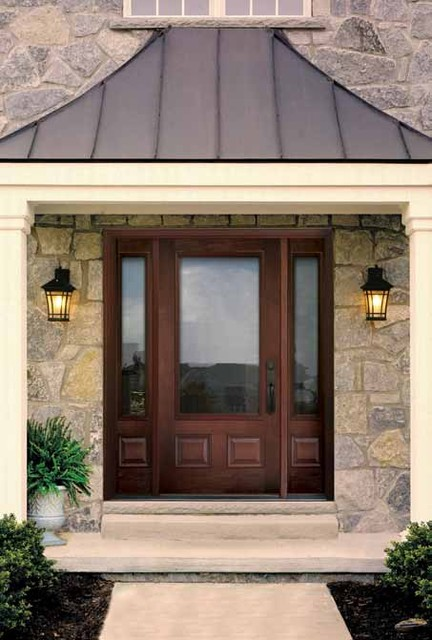 3 4 lite 2 panel classic craft mahogany clear low e glass for 6 window panel front door