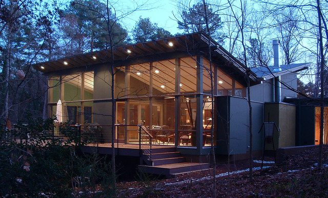 3 Pavilions modern-exterior