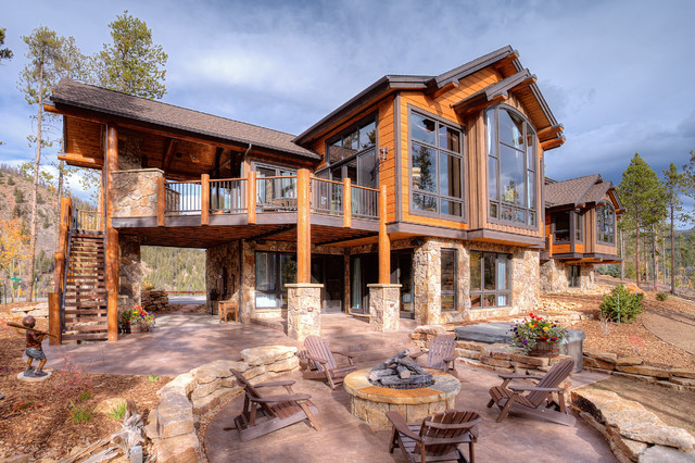 411 Long Ridge Exterior Rustic Denver By Pinnacle Mountain Homes