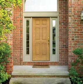 Superbe 6 Panel Fiberglass Doors Traditional Exterior