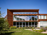contemporary exterior Houzz Tour: Modern Style With Wood, Stone and Color (21 photos)