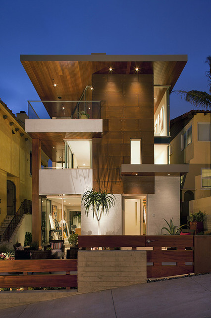 7th street residence contemporary exterior los for Home designers los angeles
