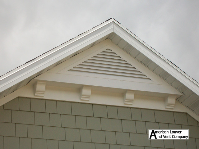 House Roof Ventilation : Gable attic vent louvers traditional other by