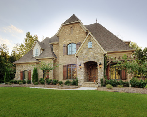 Tan Brick And Stone Exterior