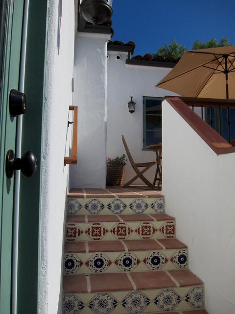 A Charming Santa Barbara Spanish Patio Deck With Spanish