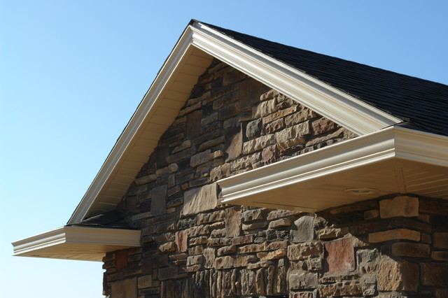 a completed marpec project decorative gutter fascia and