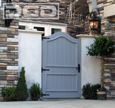 A custom french style couryard gate architectural design - Traditional french doors exterior ...