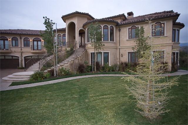 A Custom Home by Mega Builders mediterranean-exterior