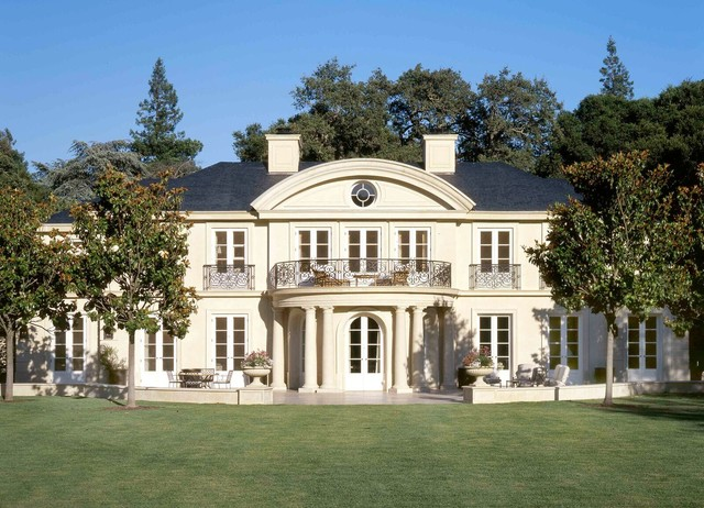 A french country house traditional exterior san for Gable pediments for sale
