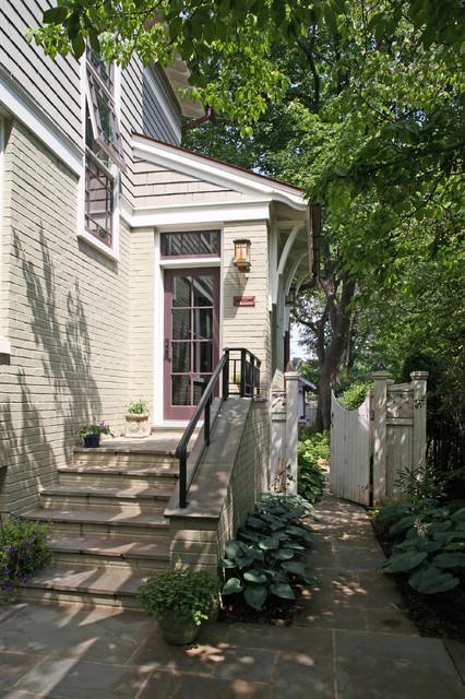 a house in a garden craftsman-exterior
