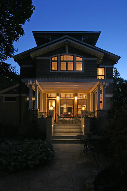 a house in a garden craftsman-exterior