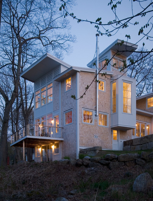 A modern maine home contemporary exterior portland for Maine residential architects