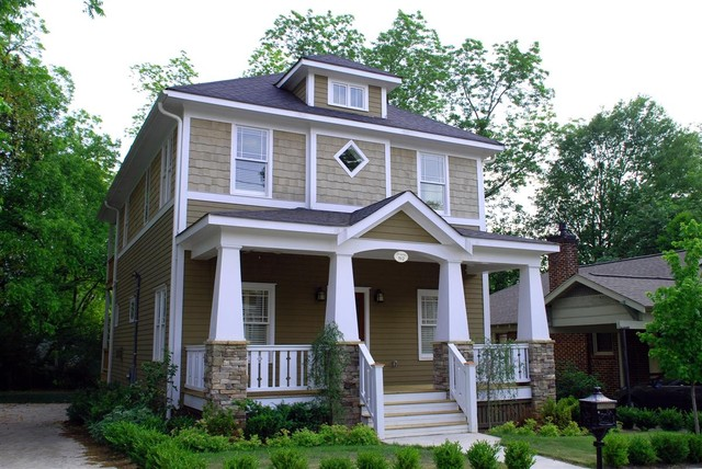 Roots of Style: See What Defines a Craftsman Home on craftsman house plans with hip roof, craftsman style porch roof, ranch house with hip roof, craftsman dormer, craftsman brick bungalow exterior colors, craftsman style house with metal roof, hip roof with gable porch roof,