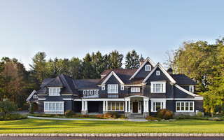 A new home in the New York Suburbs traditional exterior