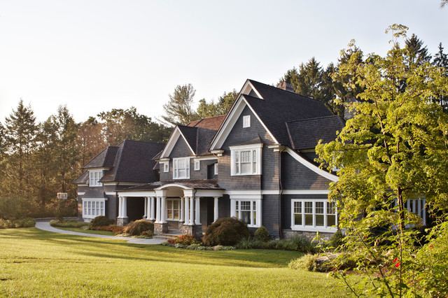 A new home in the new york suburbs traditional for Traditional new homes
