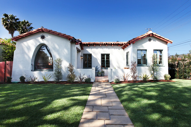 A Spanish Style Bungalow After Mediterranean Exterior