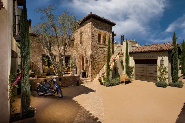 A Tuscan Farmhouse 1 Mediterranean Exterior Orange County by South Co