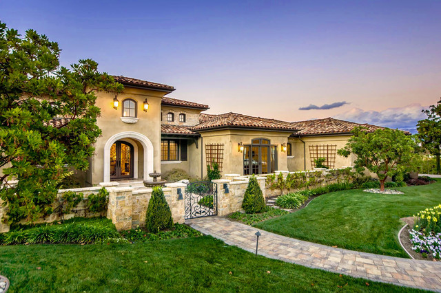 A tuscan vineyard estate mediterranean exterior for Mediterranean exterior design