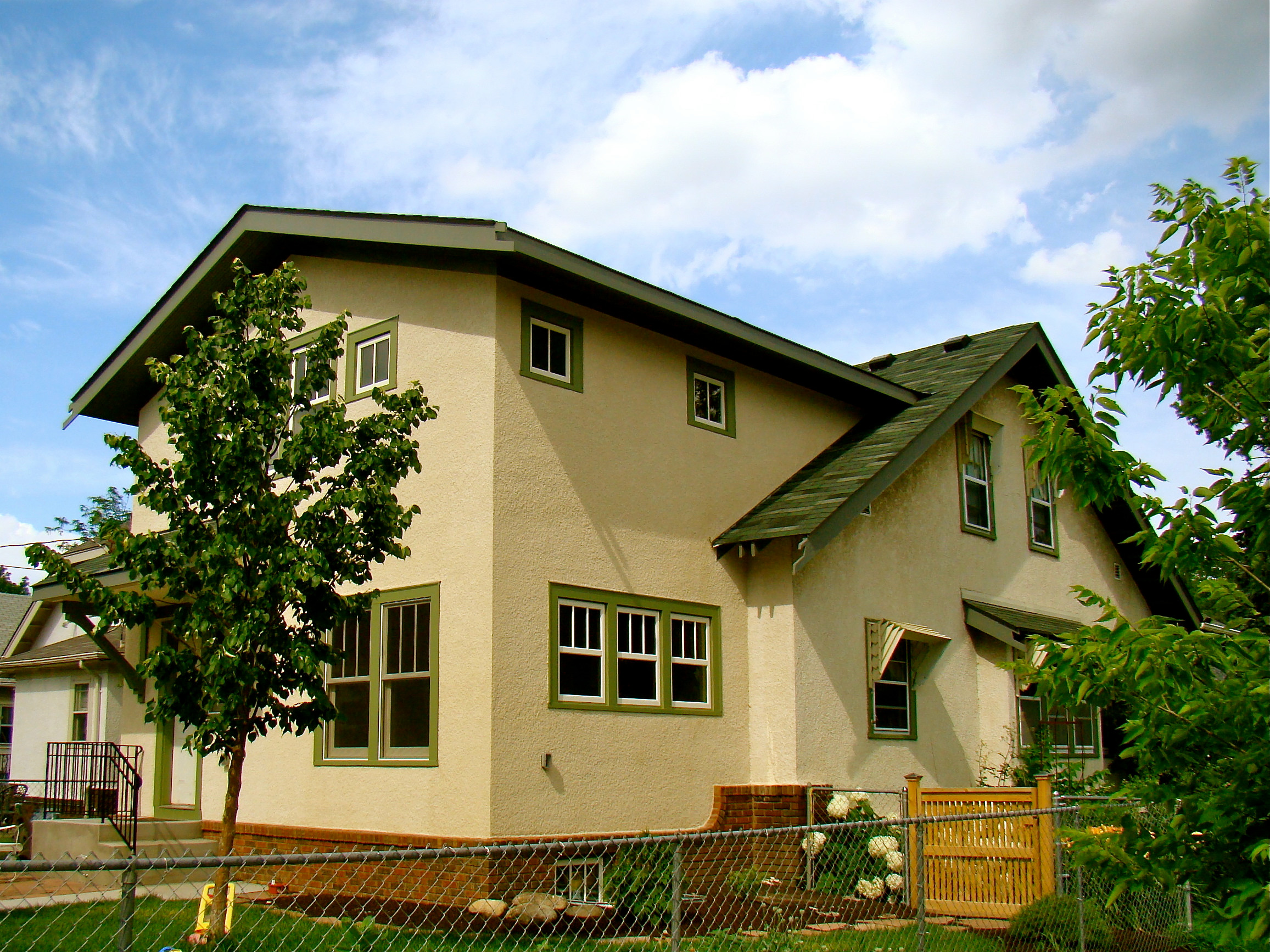 A Two-Story Stucco Addition