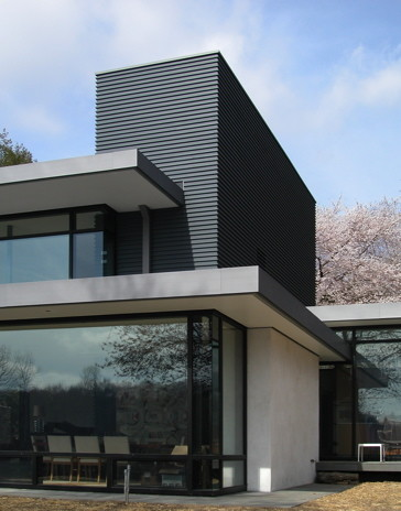 Abelow sherman architects llc for Modern homes exterior materials