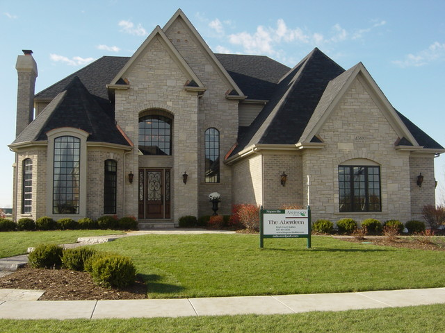 Brick Stone Elevation Homes : Aberdeen traditional exterior chicago by king s