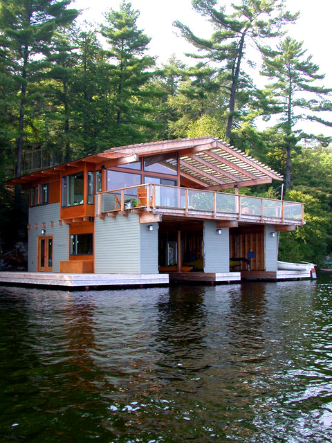 Acton Island Boathouse Rustic Exterior Toronto By