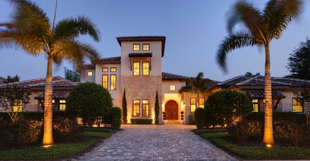 Addison Misner Inspired Front Elevation mediterranean exterior