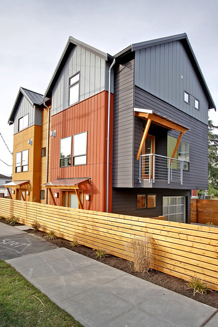 Admiral Way Townhomes - West Seattle, WA « DAVID VANDERVORT ARCHITECTS modern-exterior