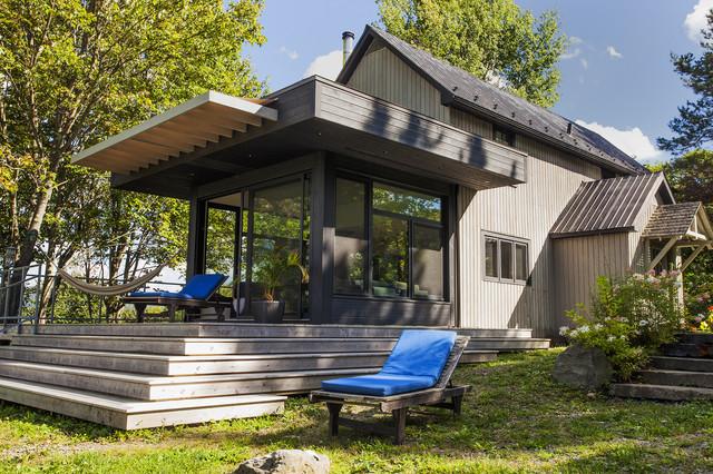 Agrandissement de maison house extension contemporain for Agrandissement maison par veranda