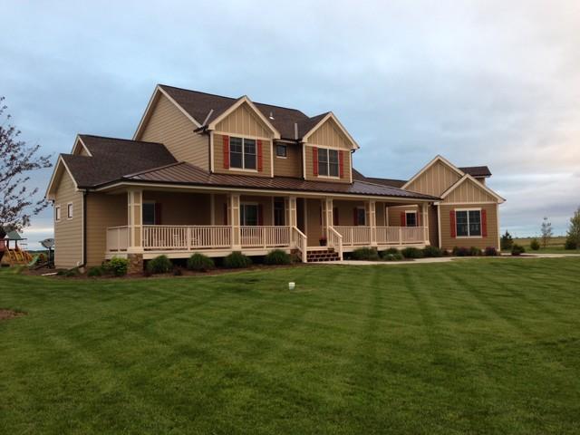 Ahp farmhouse custom farmhouse exterior omaha by for Advanced home designs