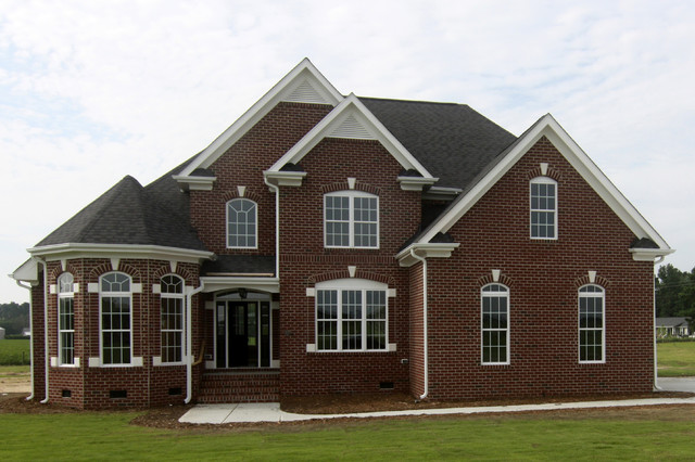 all brick custom home raleigh traditional exterior