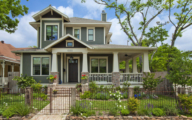 Allston Residence Craftsman Exterior Houston By Scale - Craftsman home rehabilitation in houston