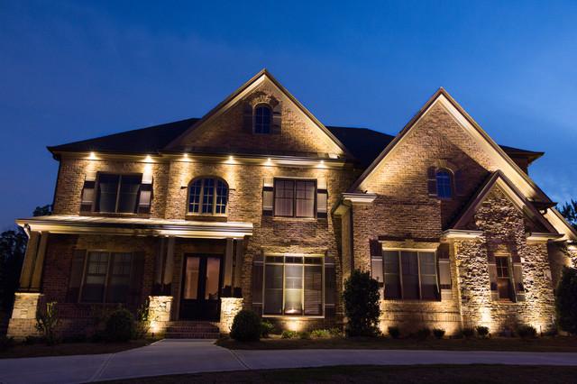 Alpharetta, GA House Lighting Project #2 - Traditional ...