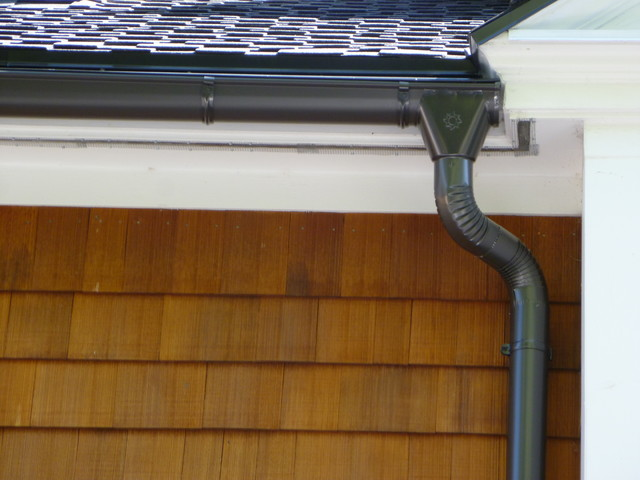 Ice Gutter Heat Cable : Aluminum half round seamless gutters heat cables ice