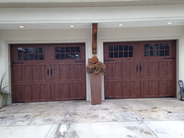 Amarr Classica Carriage House Garage Doors  North Hampton Style In Walnut  Traditional Exterior