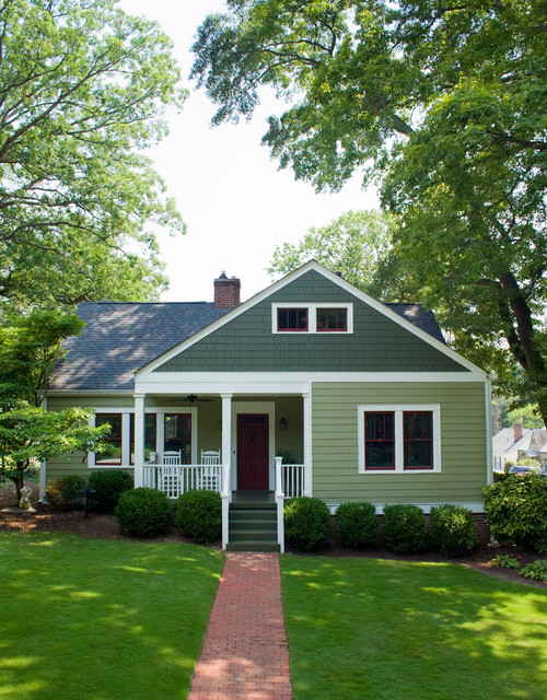 American small house renovation front elevation after for Outside renovation ideas