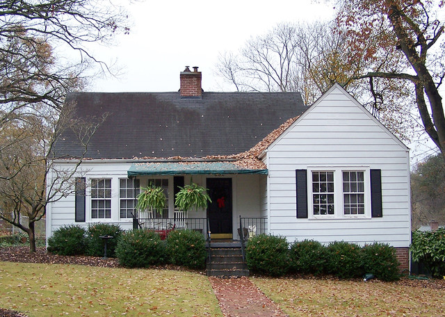 American Small House Renovation Front Elevation Before