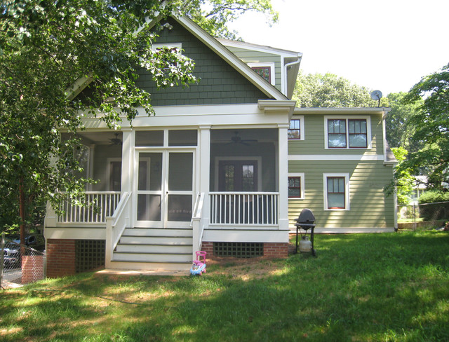 American Small House Renovation Rear Elevation After Traditional Exterior Atlanta By
