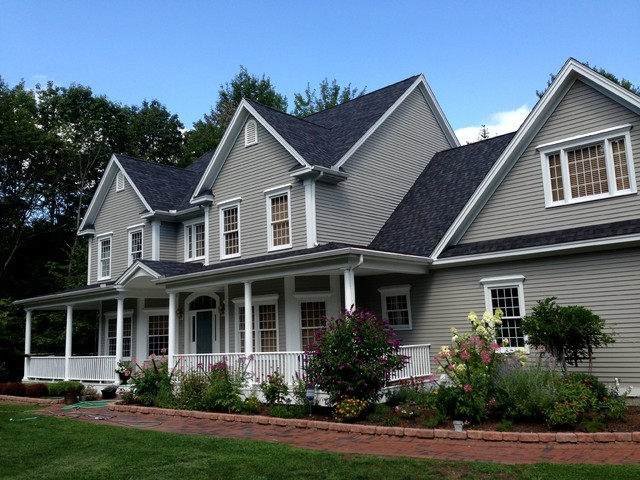Amherst Nh Farmers Porch Colonial Style Home Traditional Exterior Manchester By Amherst