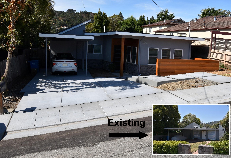 An addition in San Carlos. New driveway, sidewalk, gutter & curb.