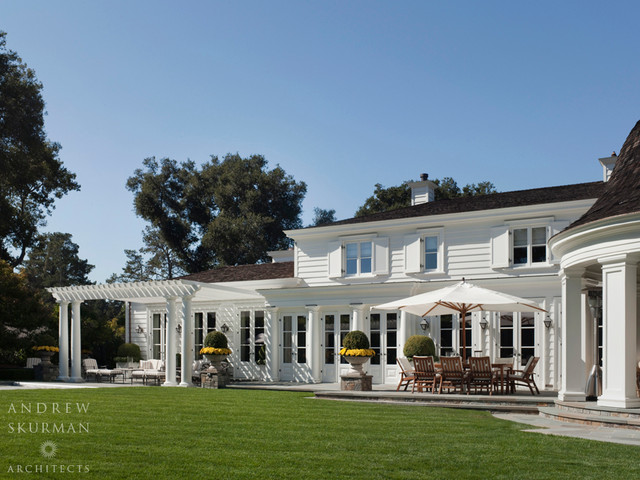 An American Country House Traditional Exterior San