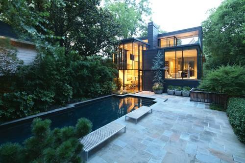 แปลนแบบบ้านสองชั้น 05 Ansley Glass House