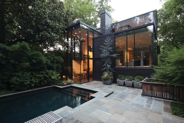 Ansley Glass House Modern Exterior Charlotte By