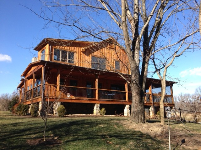 Antique log cabin rustic exterior other metro by for Log home architects
