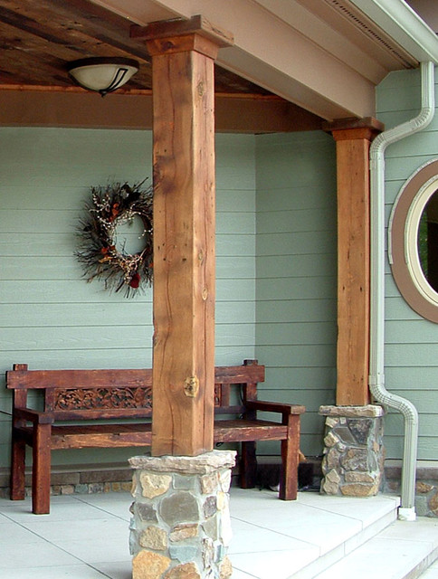 Antique Reclaimed Barn Beams - traditional - accessories and decor ...