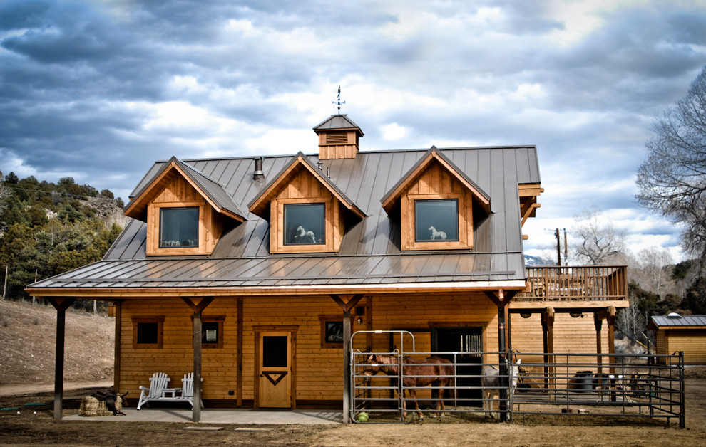 Apartment Barn With Gable Dormers - Southwestern - Exterior ...
