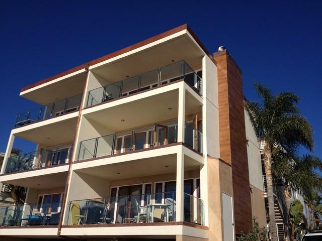 Apartment Building Renovation Contemporary Exterior