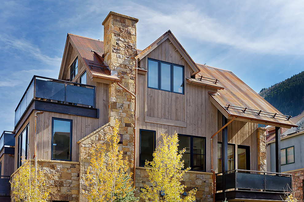 Aquafir Reclaimed Barn Wood Alternative Natural Wood Siding Colorado Residenc Rustic Exterior Denver By Montana Timber Products